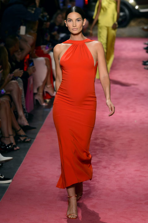 pregnant models on runway