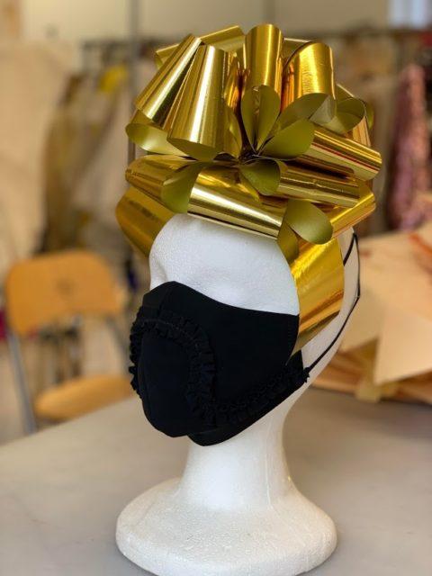 Black Greta Constantine face mask