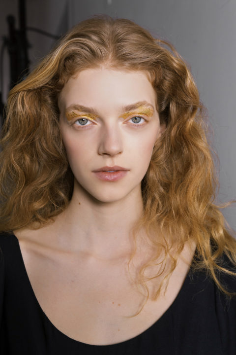 curly hairstyles at Gabriela Hearst