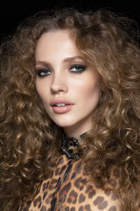 curly hairstyles at Philipp Plein