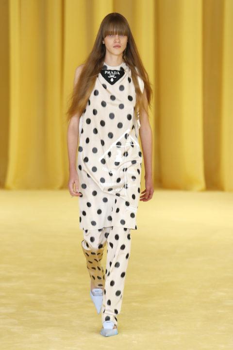 Prada print outfit