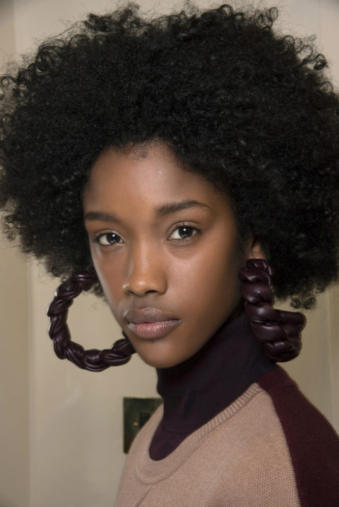curly hairstyles at Roksanda