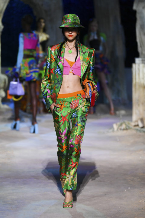 Versace print outfit