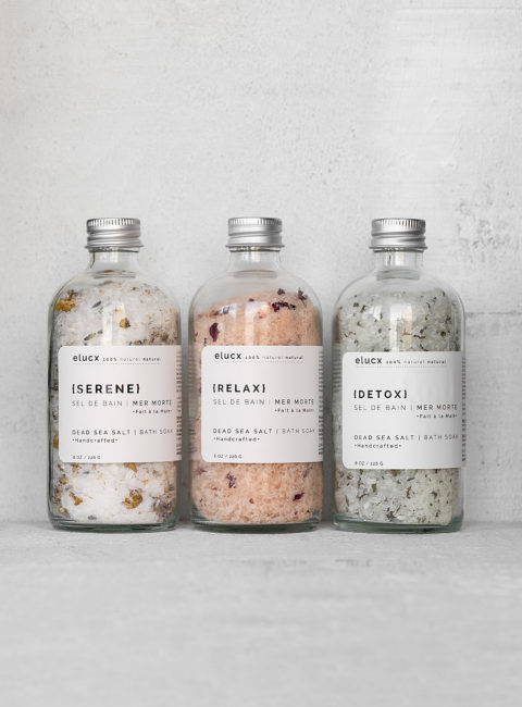 Bath salts set