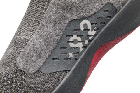 Closeup of Allbirds shoe