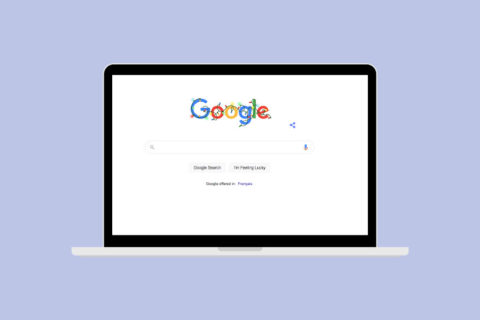 google search on laptop