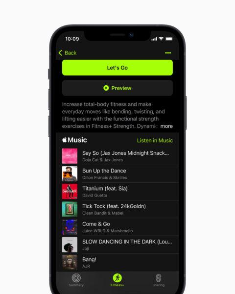 Apple Fitness Plus Music