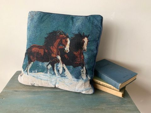 A throw pillow by Etsy shop Door In Time