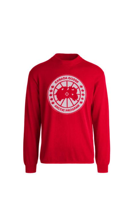 Red men's logo sweater