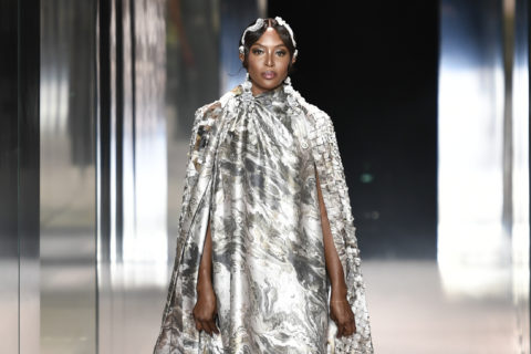 Naomi Campbell at the Fendi Spring 2021 Couture show