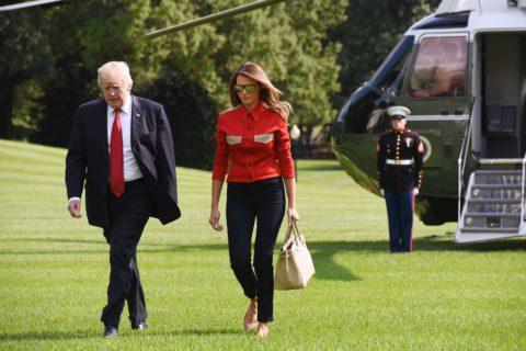 Trumpsand Melania Camp David