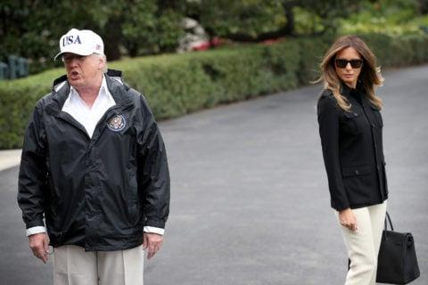 Trump and Melania white house to florida