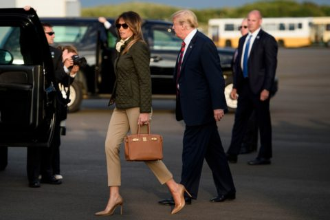 Trump and Melania at Prestwick Airport