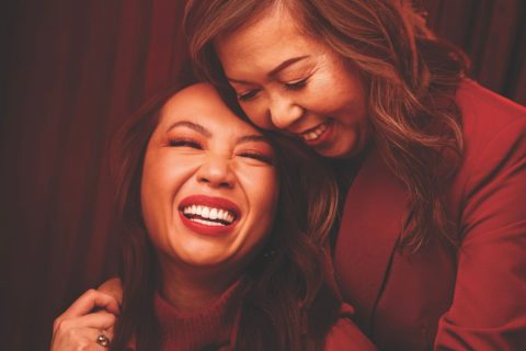 Sephora Lunar New Year campaign image starring Brigitte Truong and her mother.
