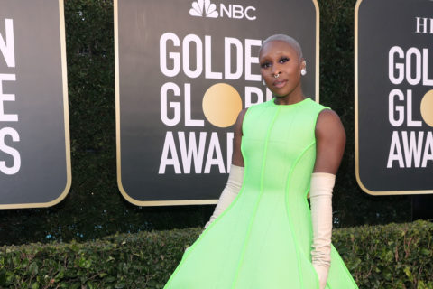 Cynthia Eriva on the Golden Globes 2021 red carpet