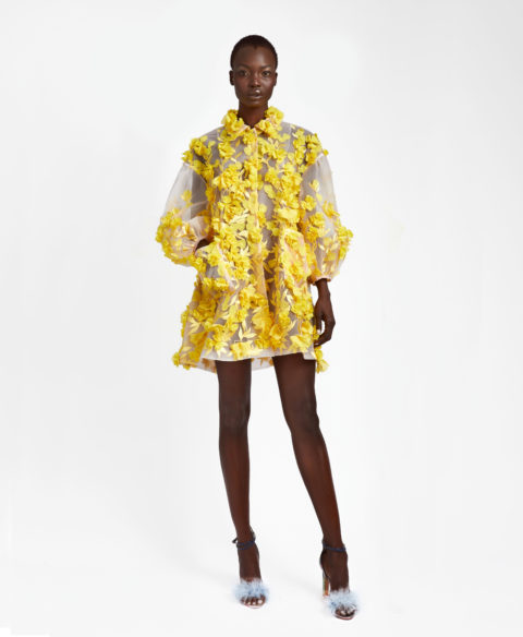 Narces floral coat dress
