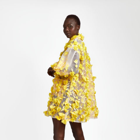Spring 2021 fashion: Narces 3D floral coat dress