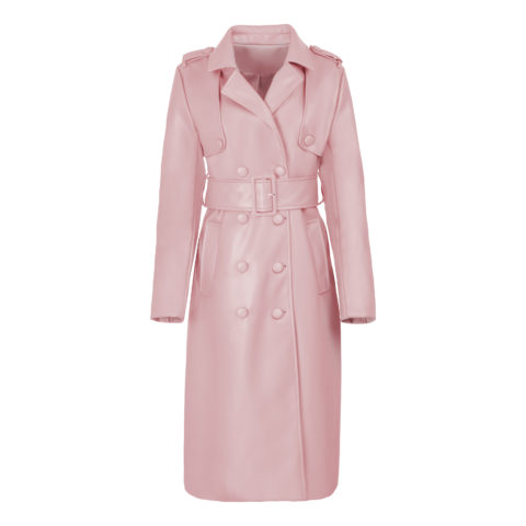 Hilary MacMillan pink trench