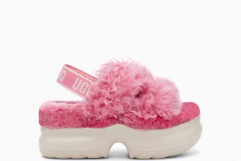 Pink Ugg shoe