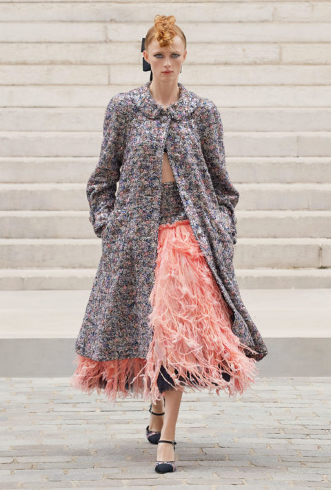Chanel pink skirt