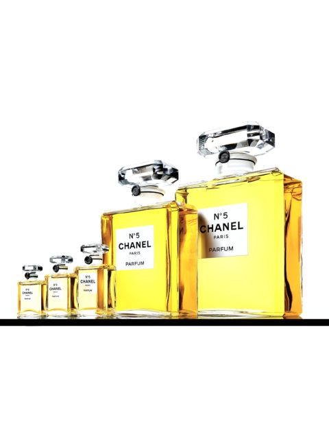 Chanel No. 5 bottles