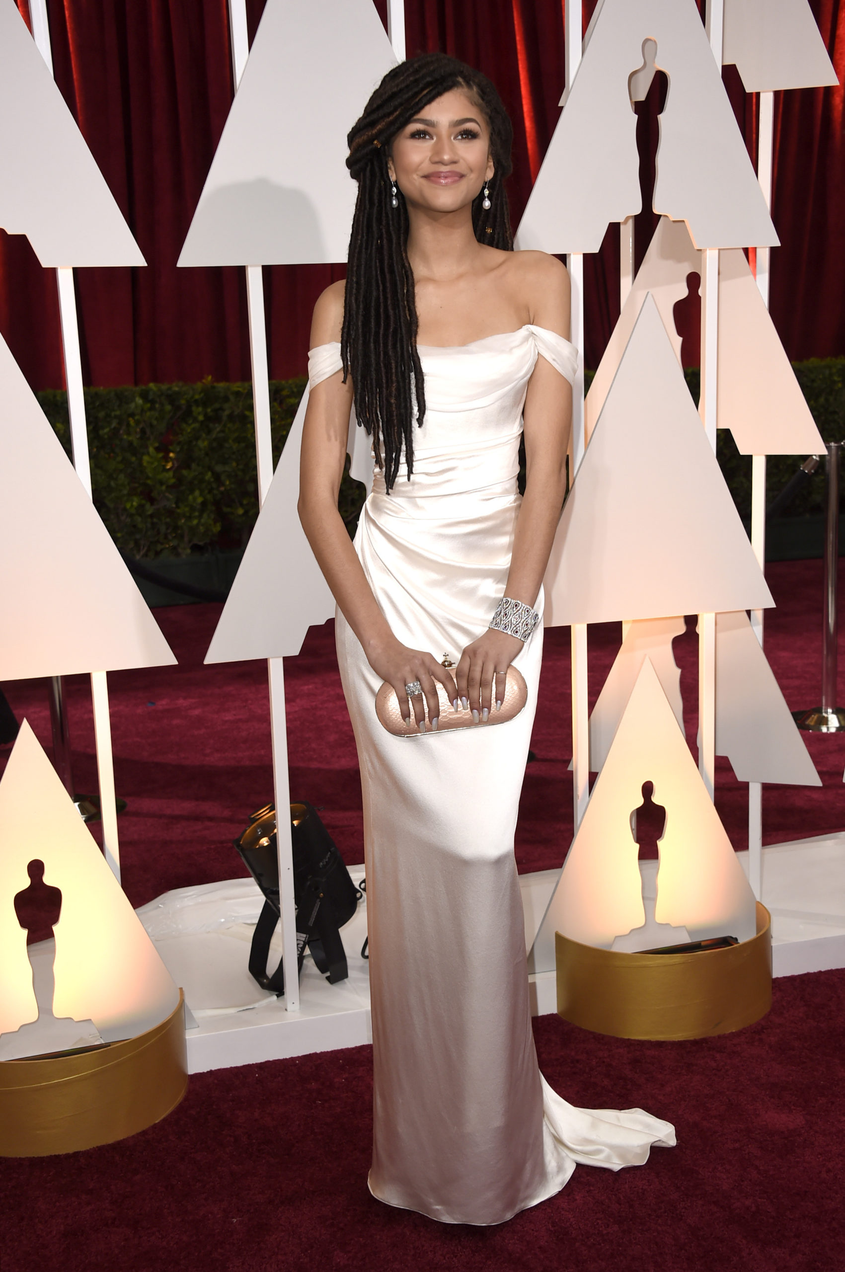 Zendaya in Vivienne Westwood at the 2015 Oscars (Photo: Getty Images)