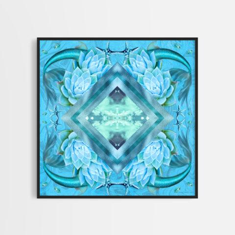 Darryl Mabey Rainbow Connection Light Blue art