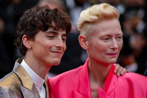 Timothée Chalamet and Tilda Swinton at Cannes