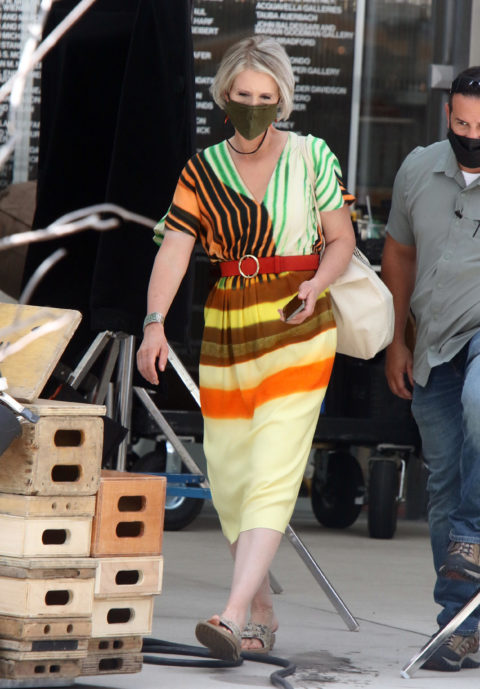 Cynthia Nixon filming Sex and the City reboot