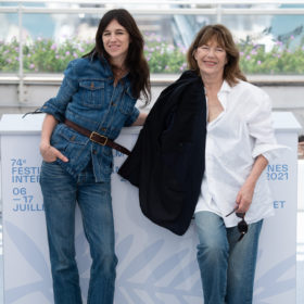 Jane Birkin and Charlotte Gainsbourg matching denim looks at the 2021 Cannes Festival
