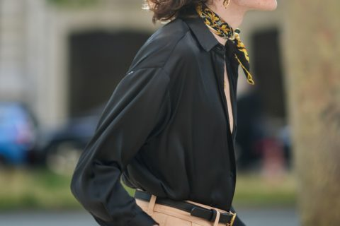 how to style a classic silk scarf