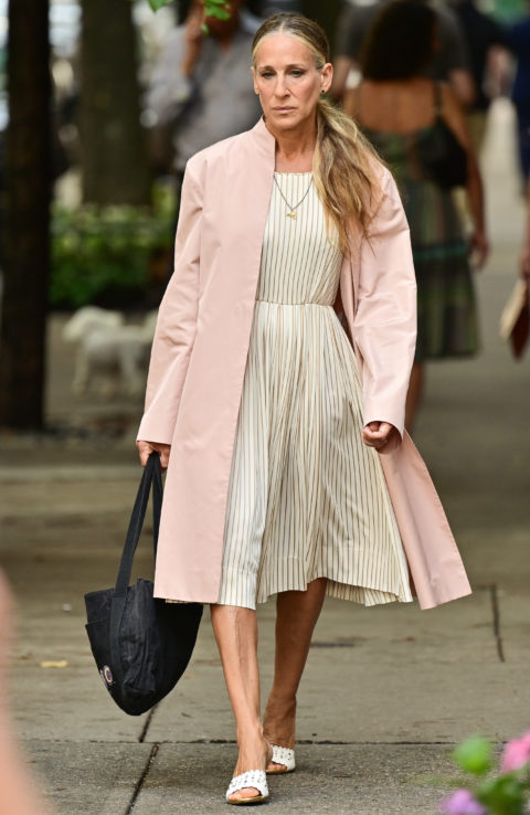 Sarah Jessica Parker on set in NYC