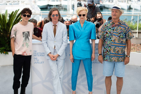 Timothee Chalamet, Wes Anderson, Tilda Swinton and Bill Murray at Cannes