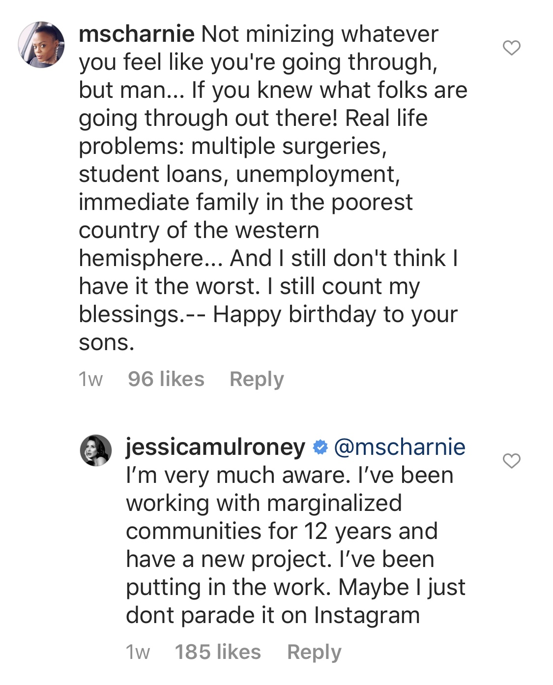 (Photo: Instagram/jessicamulroney)
