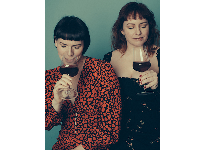 Nicole Campbell and Krysta Oben, a.k.a. the Grape Witches