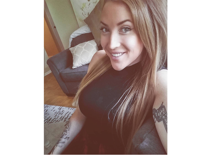 A recent photo of Markie Dell, now 26. She was trafficked as a teenager when a coworker invited her to a night out at a club in Toronto, a ploy to put the 19-year-old in her debt. Dell was forced to make her pimps $1000 a day by dancing at strip clubs—and worse. (Photo: courtesy of Markie Dell.)