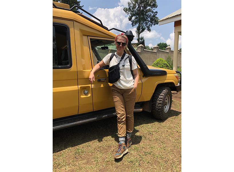 The writer in Uganda (Photo: Courtesy of Corrina Allen)