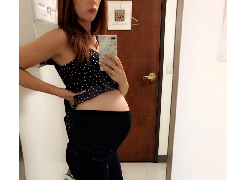 Accepting maternity pants was part of the struggle for Jessi
