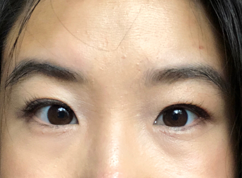 The writer's natural lashes, up close (Photo: Madelyn Chung)