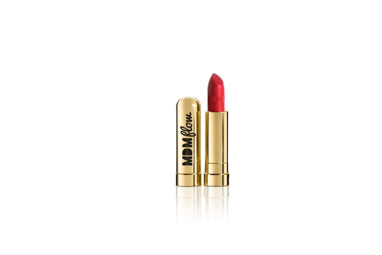 black-owned beauty: MDM flow semi-matte red lipstick, called Supreme