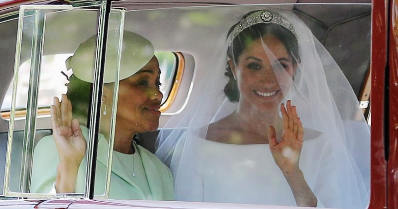 Meghan Markle with her mom, Doria Ragland, en route to the royal wedding (Photograph: Richard Heathcote/Getty Images)