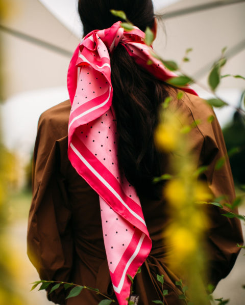 All the Different Ways to Style a Silky Scarf This Summer