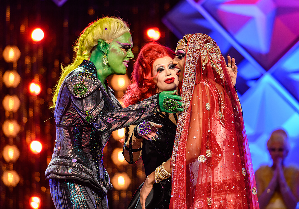 (Photo: Bell Media) Priyanka (right) reacts after being crowned the winner of 'Canada's Drag Race'