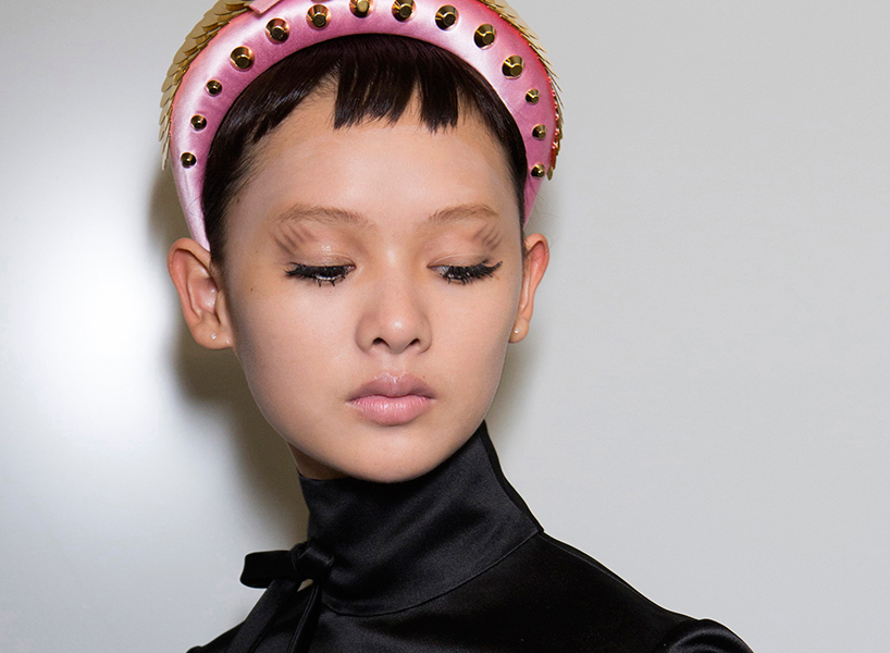 Lash goals: A backstage beauty look from Prada's Spring 2019 show (Photo: ImaxTree)
