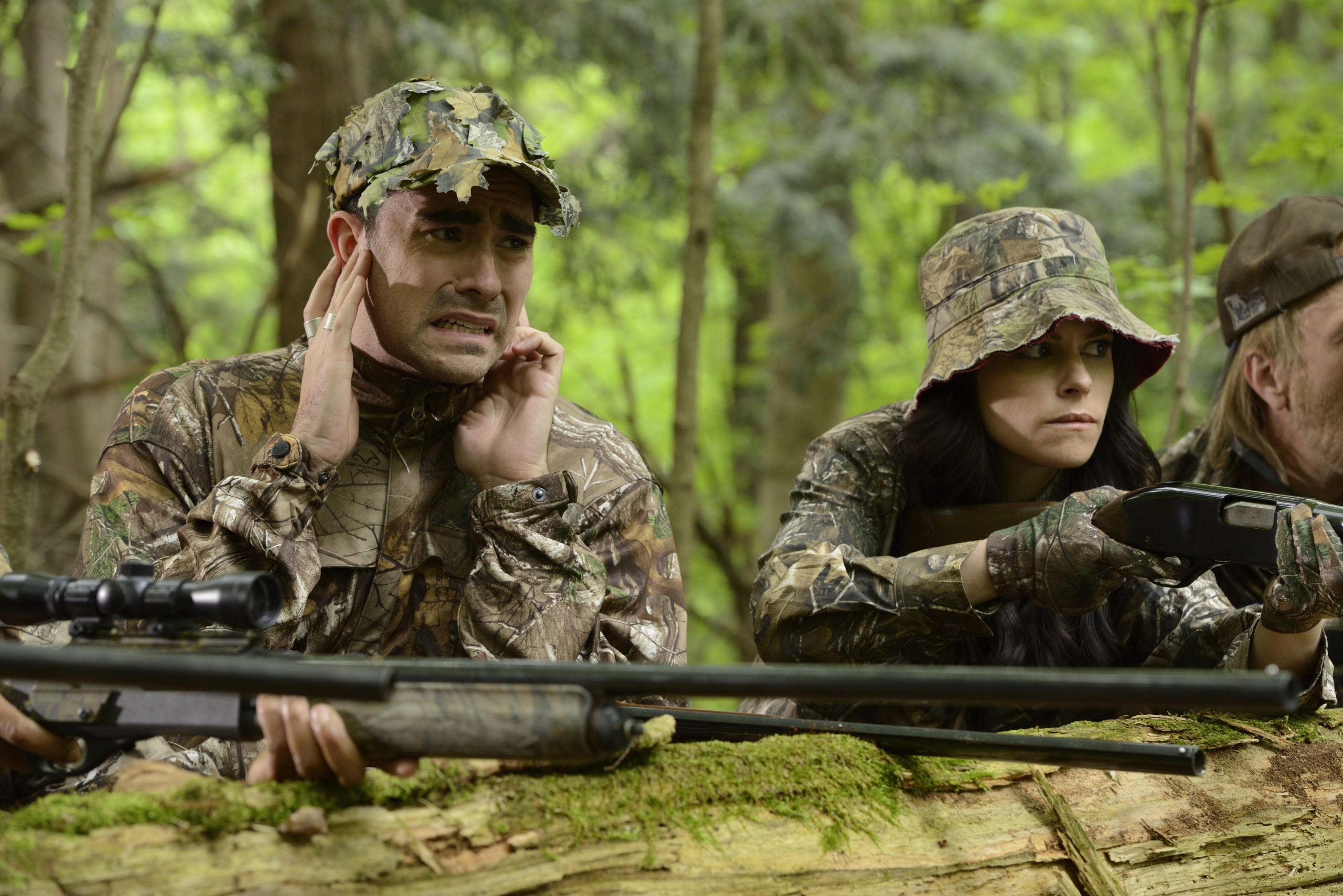 Dan Levy and Emily Hampshire (Photo: Courtesy of CBC)