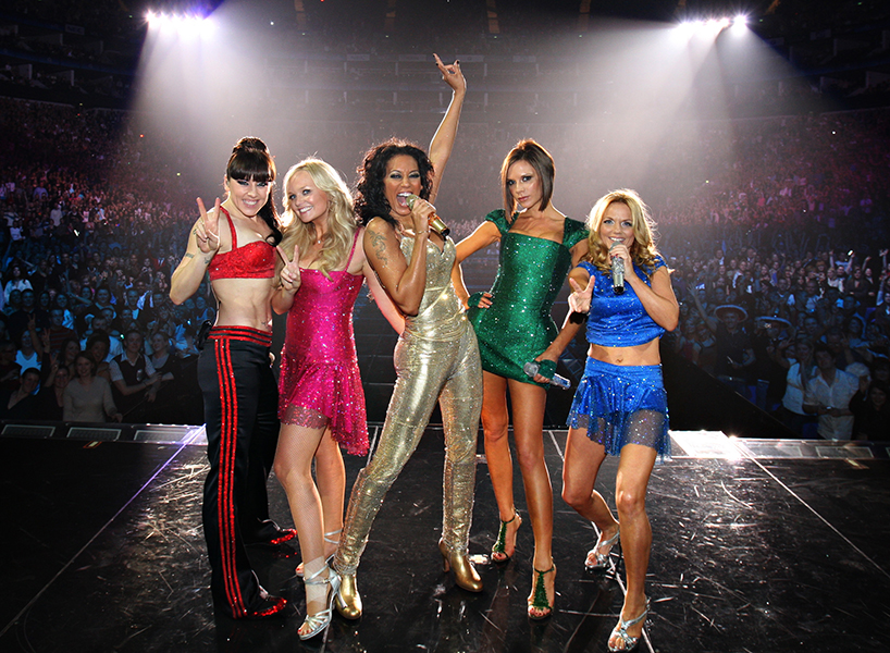 Melanie Chisholm, Emma Bunton, Melanie Brown, Victoria Beckham and Geri Horner perform on stage during The Return of Spice Girls World Tour (Photo: Getty Images)