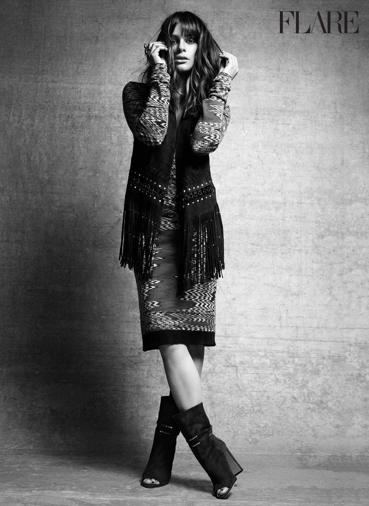 Vest, Rebecca Minkoff. Dress, Missoni. Ring, CB Bronfman. Boots, Jimmy Choo. (Photo: Nino Muñoz; Styling: Isabel Dupré)