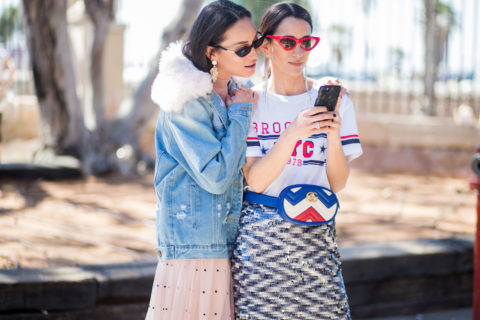 Influencers on phone