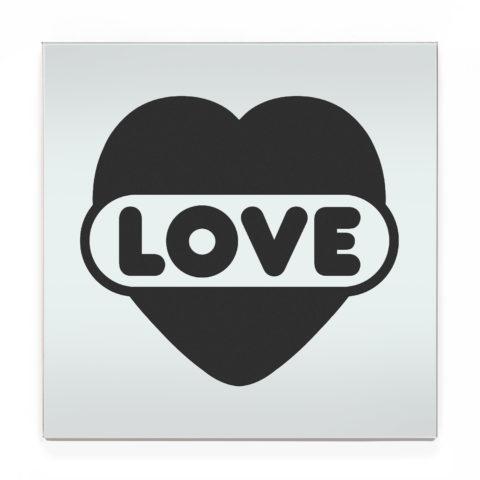 evalesco11 love heart charcoal