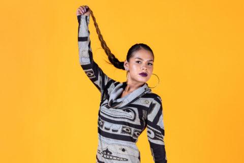 santa fe indian market: Pamela Baker Indigenous fashion